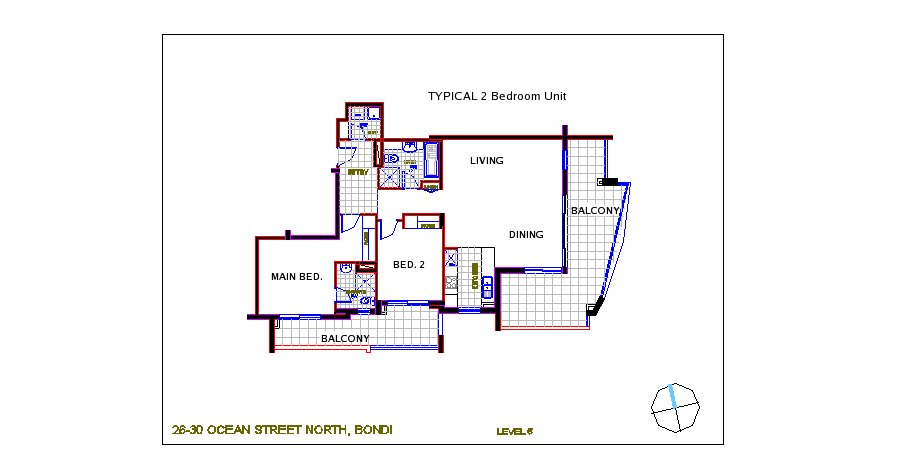 Rommark for 3 bedroom unit floor plans